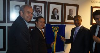 Inauguração da fotografia de Romário na galeria de ex-presidentes da CTD.
