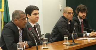 Romário em reunião com o Bom Senso (Foto: Sérgio Francês)