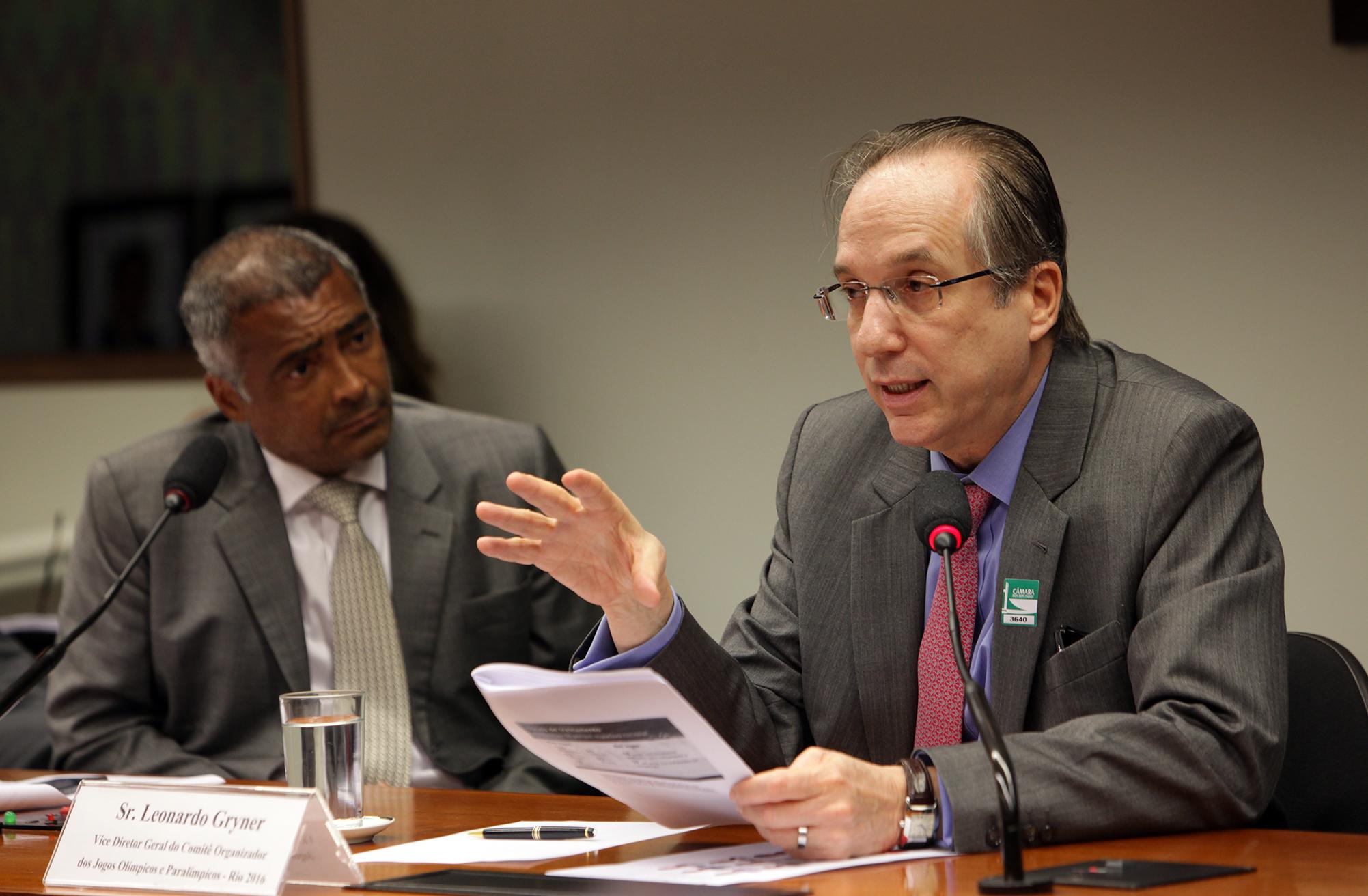 Audiência pública na Comissão de Esporte, Romário e Leonardo Gryner