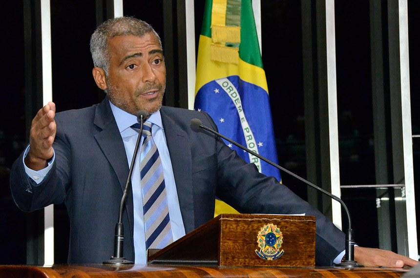 Romário no Senado (Foto: Agência Senado)